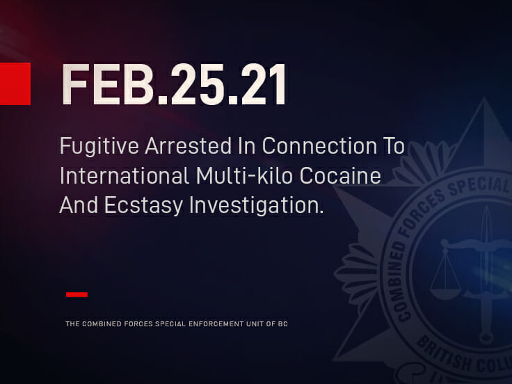 Fugitive Arrested In Connection To International Multi-kilo Cocaine And Ecstasy Investigation.