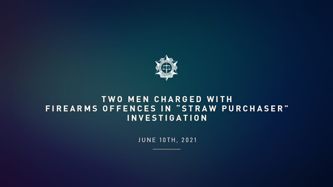 """Two men charged with firearms offences in """"straw purchaser"""" investigation"""