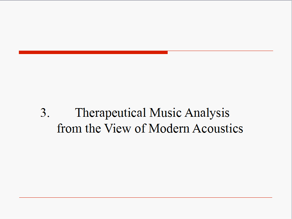 Visualizing Analysis of Therapeutic Music Heavenly Tone 10