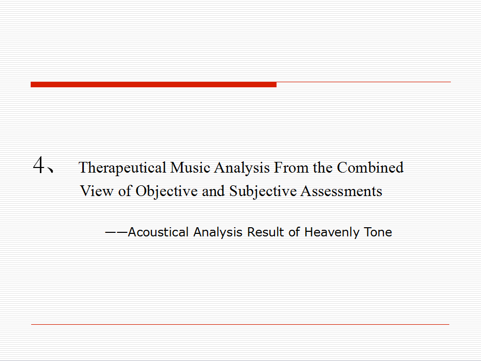 Visualizing Analysis of Therapeutic Music Heavenly Tone 24