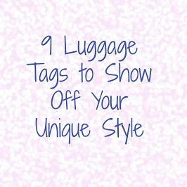 trendy luggage tags