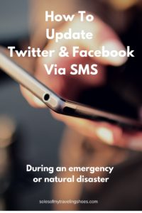 How to update Twitter & Facebook via SMS during an emergency or natural disaster.
