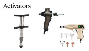 image of various types of chiropractic activators