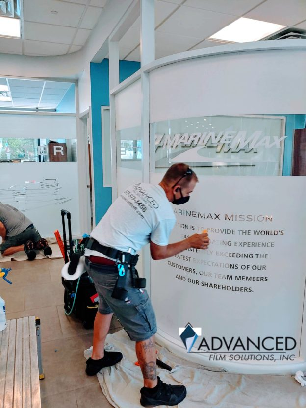 Decorative Window Films Designed For Tampa Bay, Orlando Privacy & Branding