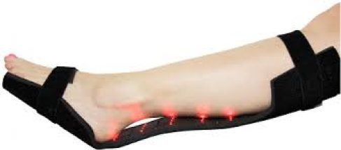 Infrared diodes being used on lower leg