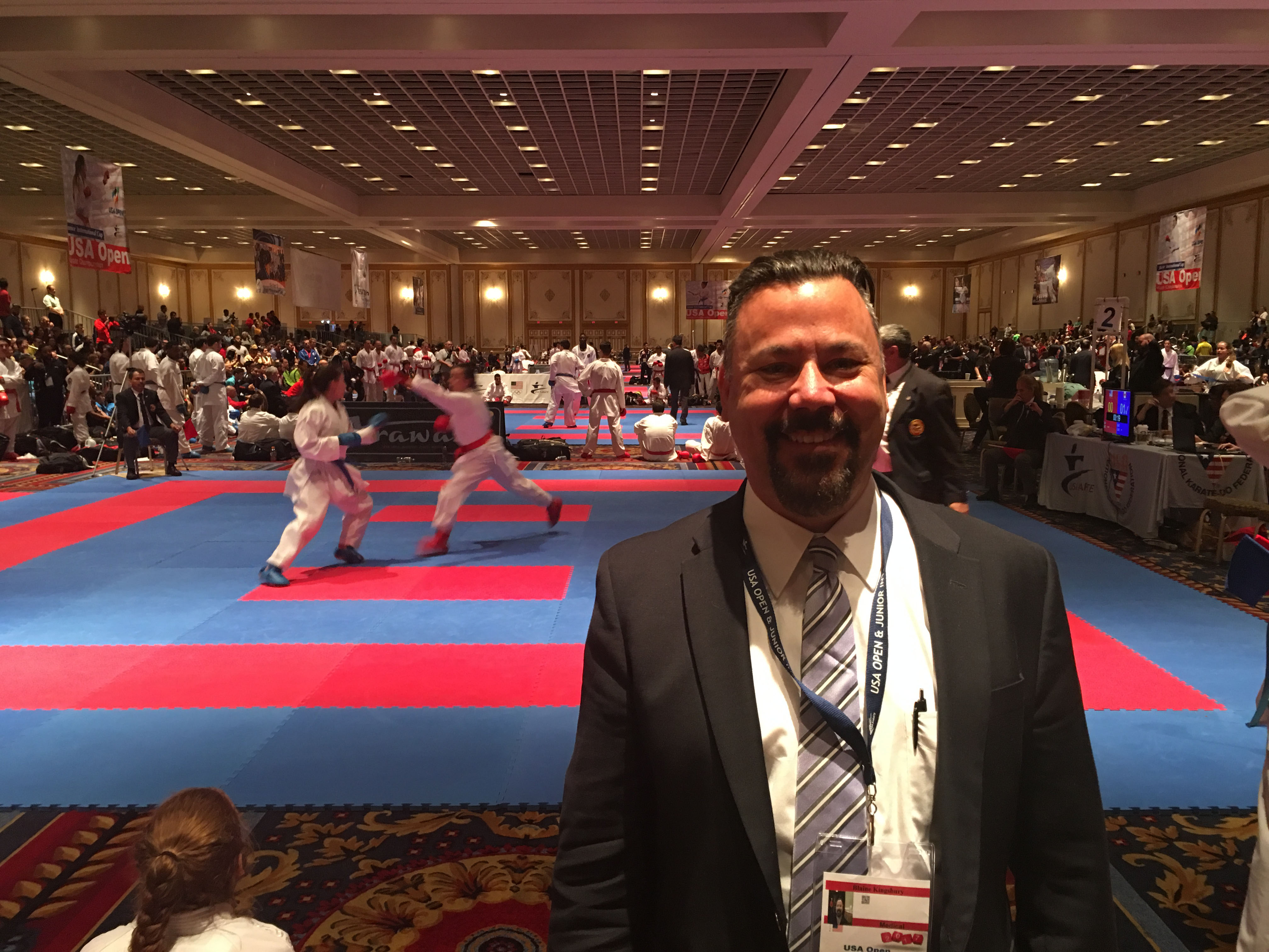 Dr. Kingsbury at the 2017 US Karate Open