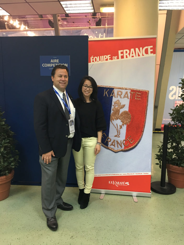 Dr. Kingsbury and the French Federation Chiropractor for the Paris Open