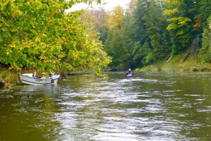 Early Fall Spey Fishing on the Nottawasaga River for Chinook Salmon & Steelhead.