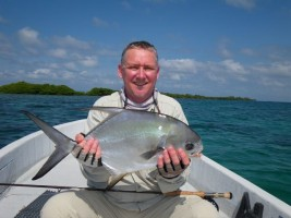 Phil Clough with a Permit
