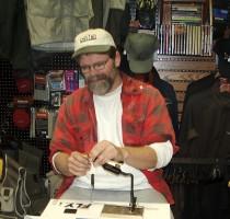 Rick Brunsden tying at the First Cast Fly Shop