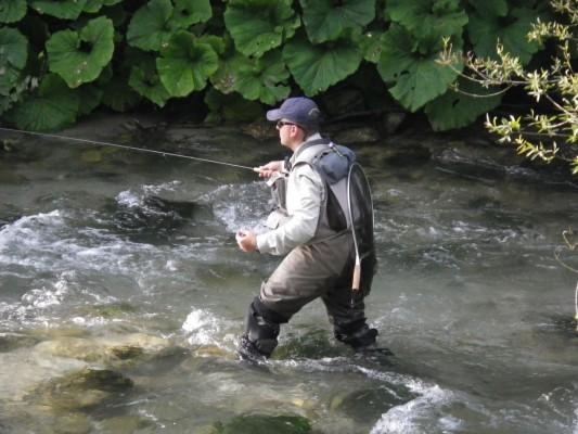 Arron Varga at the World Fly Fishing Championships in Italy