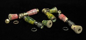 Custom-HLS-Stabilized-gold-green-box-elder-burl-and-Stabilized-red-black-box-elder-with-Lemke-Hardware