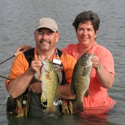 Rob and Tamma Clark with some great bass