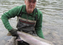 Larry Halyk on The Bulkley River in British Columbia.
