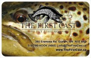 Gift Card Button Brown Trout Head