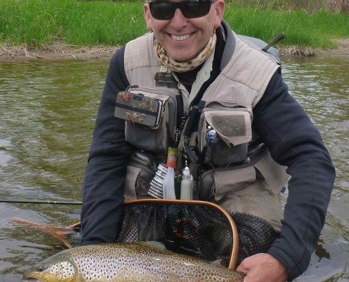 Arron Grand River Brown Trout Czech Euro Nymphing for Bio