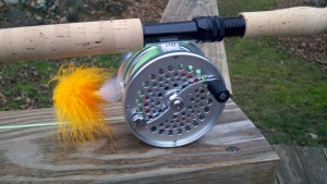 Saracione Fly Reels Mark IV Silver and Tube Fly Front Resized for Web