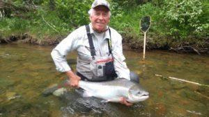 Bob McKenzie Quebec Atlantic Salmon 2016 Grand Cascapedia 88 with Neil 40 inch A