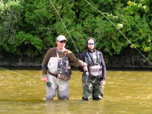 Brian and Robert Learn to Flyfish Lesson Instruction C