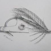 "Al Hassall - ""Little Wet"" Pen and INK"