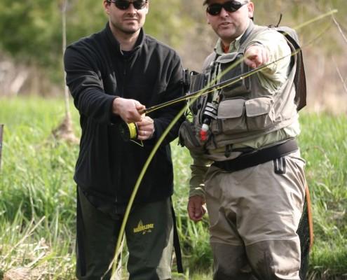 Arron Teaching Jarrett on the Grand River