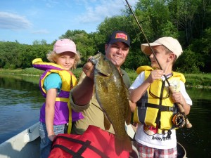 Steve May and Twins Smallmouth Bass