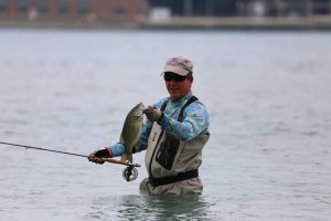 Brian Primeau Smallmouth Bass Fly Fishing Sarnia Lake St. Clair Resized for web