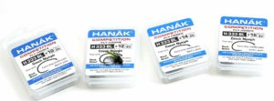 Hanak Competition H333BL Czech Nymph Black Nickel Extra Long Needle Point Bent In Point Barbless Hook B