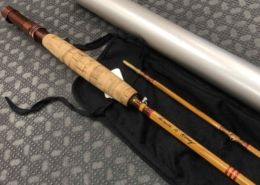 "Bamboo Cane Rod Fly Rod - Built by Owner From Genuine Tonkin Cane in 1975 - 2Pc - 9' - 5Wt - ""Dry Fly Action"" - C/W Sock & Aluminum Tube - BEAUTIFUL CONDITION! - $280"