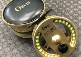 Orvis Battenkill - Made in England - Large Arbour II Fly Reel - Gold - C/W RIO Grand WF4F Fly Line - GREAT SHAPE! - $150