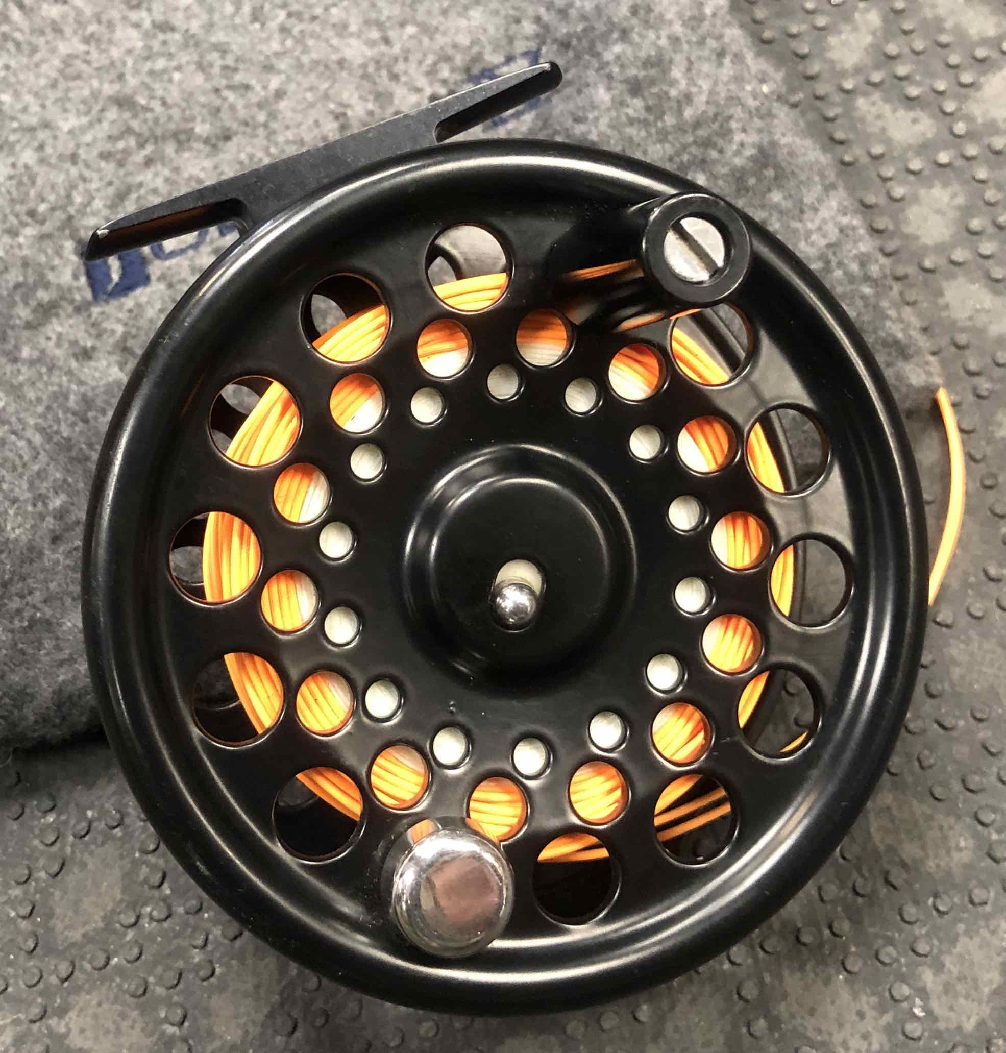 Solitude Harris Reel Company Fly Reel - Made in USA - C/W Fly Line - GREAT SHAPE!