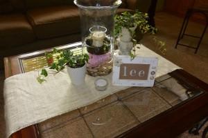Lee photo frame and ivy and burlap   https://juliesaffrin.com