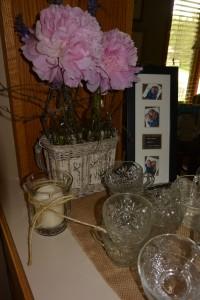 framed save the date, birch vase and jute candle   https://juliesaffrin.com