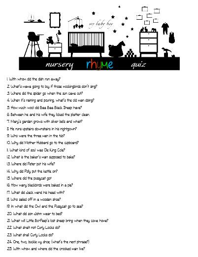 nursery rhyme quiz without answers   juliesaffrin.com