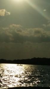 fishing at sunset | https://juliesaffrin.com