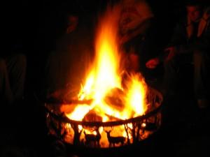 cabin firepit | https://juliesaffrin.com