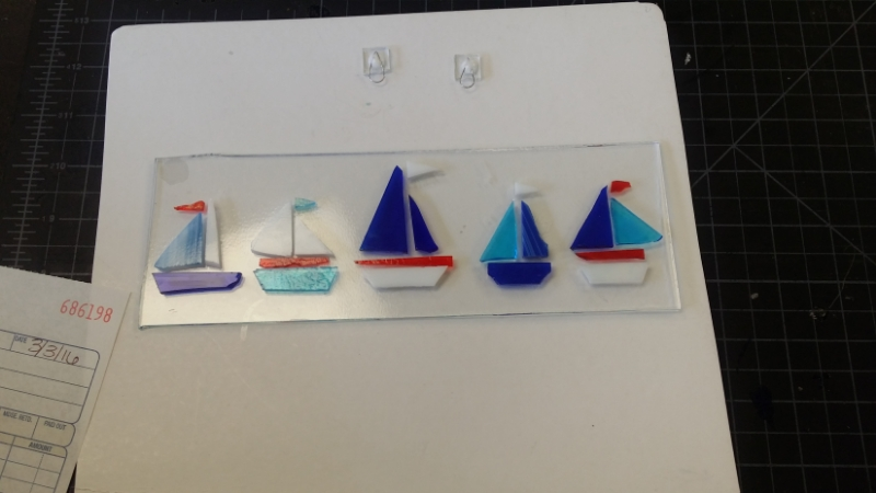 Julie's project: Five sailboats