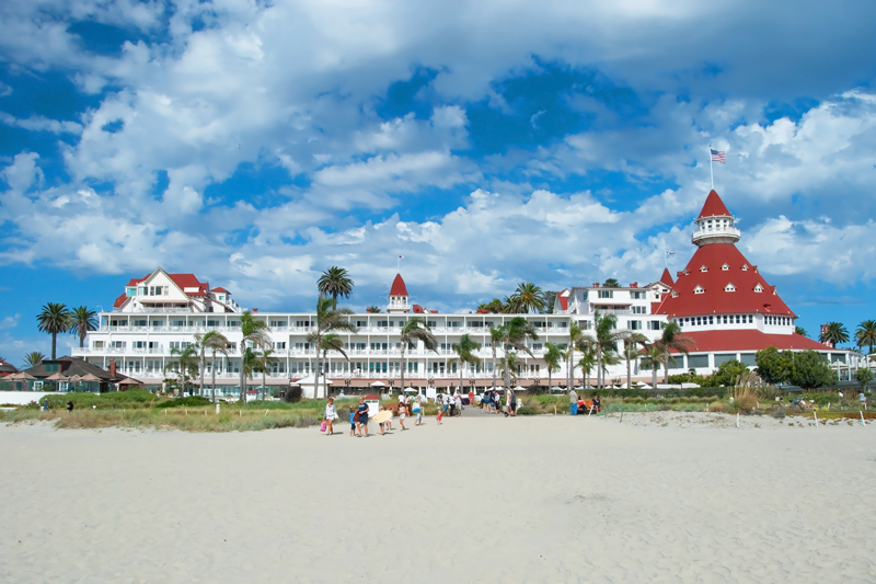 The Hotel del Coronado, an all-wooden structure built in 1888
