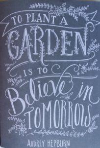 Audrey Hepburn quotes about a garden