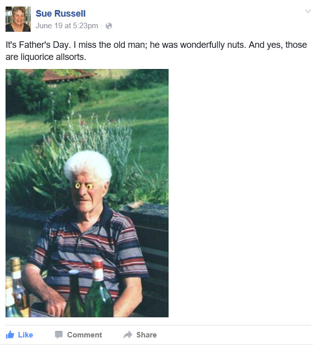 Sue Russell's father