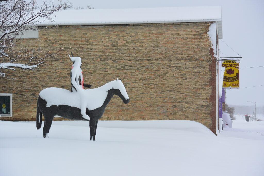 Sculpture in Vining, Minnesota