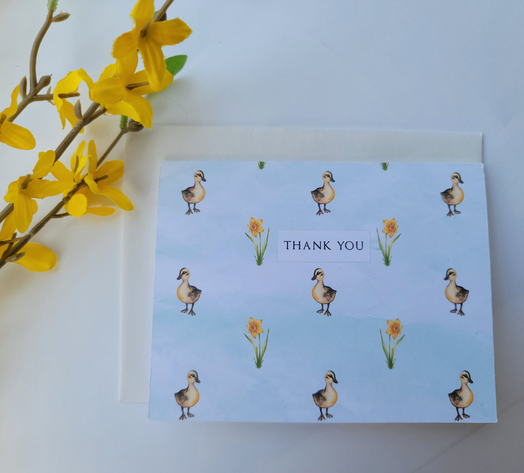 Ducks and Daffodils Thank You Card