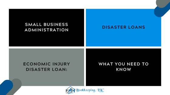 Small Business & Bookkeeping – Economic Injury Disaster Loan