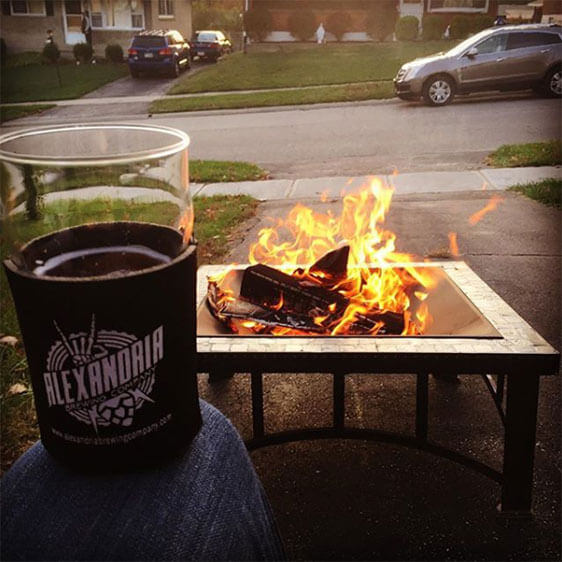 Alexandria Brewing Company by the Fire