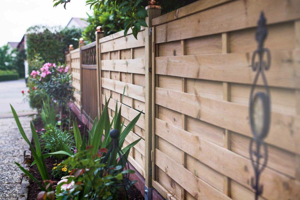 Photo of wooden garden fence
