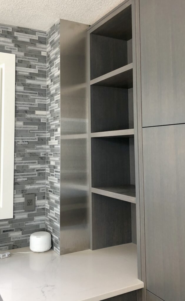 Stainless steel accent in kitchen