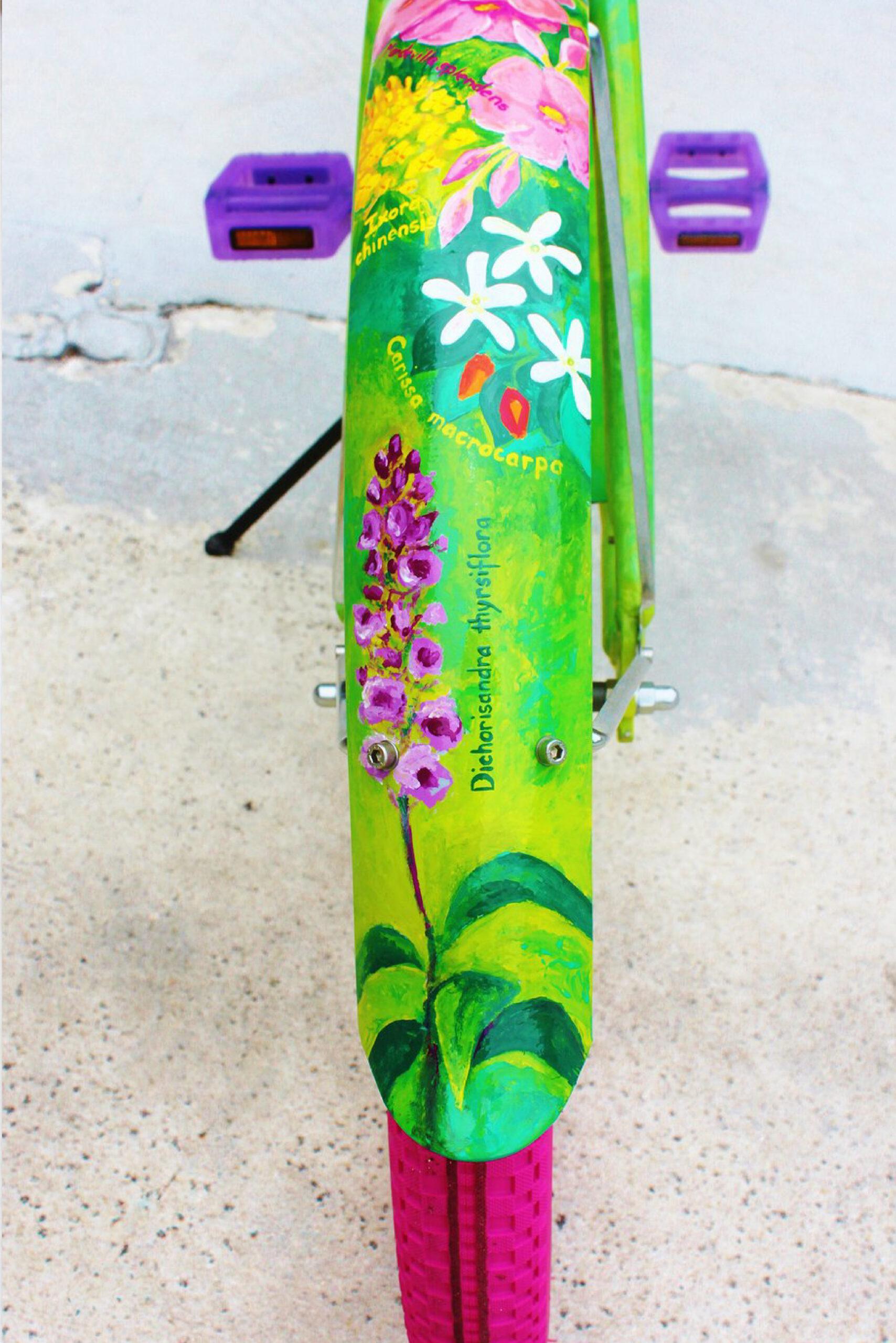 Custom bike painting