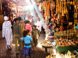 family shopping in morrocco that has international insurance
