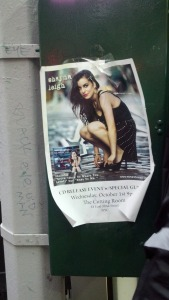 Shayna captured on a flyer in Midtown right before leaving to tour with Twisted Sister