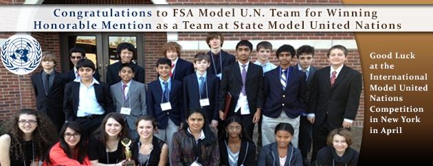 fulton science academy model united nations award